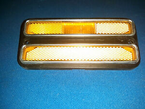 1968 -1972 Chevy GMC Pickup Truck Front Marker Lamp Light Amber Lens, Almost New