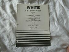 "White 48"" snow blade  operator's instruction manual and parts catalog"