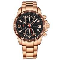 Stuhrling 3957 4 Quartz Chronograph Date Stainless Steel Bracelet Mens Watch