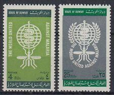 Kuwait 1962 ** Mi.173/74 Medizin medicine Gesundheit health Malaria WHO