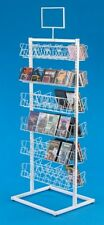 Floor Cd/Dvd Display Rack - Double-Sided 6 Tiers per Side (White)