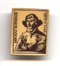 very rare Polish plastic pin NICOLAUS COPERNICUS / Mikołaj Kopernik astonomer
