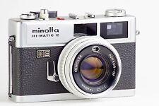 MINOLTA HI-MATIC E HI MATIC 35mm RANGEFINDER  1.7 40 40mm GARANTIZADA CLAd