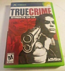 True Crime Streets Of LA Microsoft Xbox, 2003 Complete