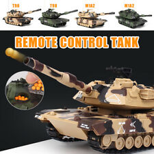 1:32 Rc Battle Tank Crawler Remote Control Toys Modells Launch Bb Bullets Gifts