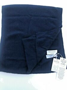 Brand New With Tags 100% Cashmere Wool Navy Scarf