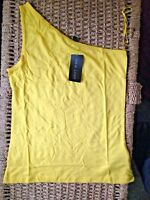 New Look Top Vest size 10 Yellow Off Shoulder BNWT New With Tags