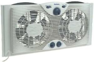 3 Speed Twin Window Fan Reversable Air Cooloing Indoor Water Resistant Exhaust