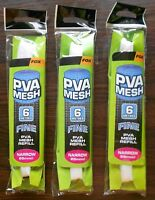 3 X FOX PVA MESH REFILL 6 METRES FINE NARROW 25mm CPV040