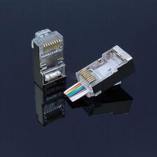 PACK Of 50pcs EZ RJ45 Crimp End Plug Connectors Network Cable CAT5e CAT6