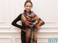 Womens Cashmere Scarf Soft Wool Scarves Plaids Shawl Stole Wraps