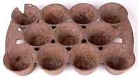 Antique # 10 Cast Iron Muffin Pan-11 Cups-Kitchen Houseware-Rusty Heavy