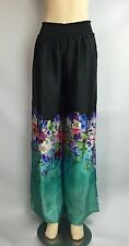 Beach Bunny Sea Breeze Blossom Pant Cover Up Size Large Black NWT