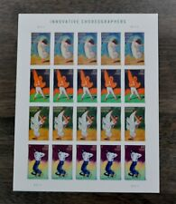Mint Sheet Of 20 Forever Stamps # 4698-4701 Innovative Choreographers