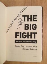SIGNED The Big Fight : My Life in and Out of the Ring Sugar Ray Leonard + Photo