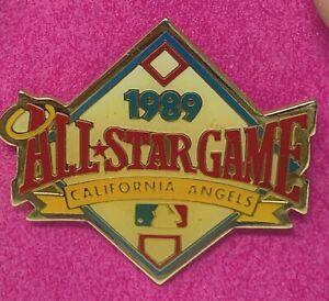 1989 California Angels Beautiful Design MLB All Star Game Peter David Press Pin