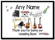 La ringrazio WEDDING BAND personalizzata PLACEMAT