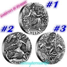 Australia 2015 Goddesses Olympus Hera Athena Aphrodite Silver High Relief Coins
