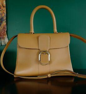 Delvaux Brillant (Brilliant) MM in Vegetal calf leather, gold hardware + mirror