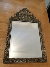 Fantastic Antique Ornate Brass Mirror