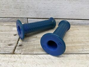 1980s Blue Old School BMX Grips AME Style Huffy Pro Thunder Murray Team Cert