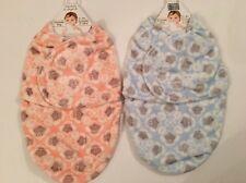 Blankets & Beyond Baby Boy Girl Swaddle Bag Sack Size 0-3 Months Pink Blue Owl