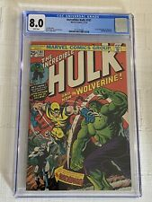 The Incredible Hulk #181 CGC 8.0 WHITE Pages (1st Appearance Of Wolverine)