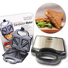 Toasted Sandwich Maker Toastie Toaster Grill Fill Press Non Stick 2 Slice Bread