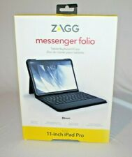 Zagg Messenger Folio Tablet Keyboard Case for 11 inch iPad Pro New