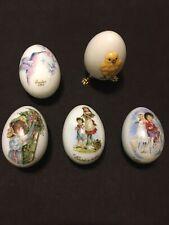 5 Lot Vintage Easter Eggs Noritake 1983 Royal Bayreuth 1976,79 & 80. Goebel 1978