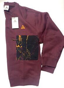 Nike ACG Night Maroon Men's Crew Sweatshirt CZ5102-643 Multiple Sizes