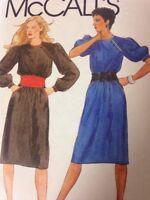 McCalls 8762 Womens Dress and Cummerbund Size 10 Bust 32.5 80s Vintage Fashion