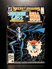 COMICS: DC: Secret Origins #8 (1980s), Shadow Lass/Doll Man  - RARE (superman)
