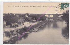 CPA 94130 NOGENT SUR MARNE Bords de Marne vue panoramique du Viaduc pecheurs