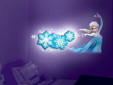 Disney FROZEN Snowflake Lights Show LARGE ELSA Wall Decal Christmas Night Light