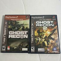 Tom Clancy's Ghost Recon 1 & 2 PS2 PlayStation 2 Lot Of 2 Complete Video Game