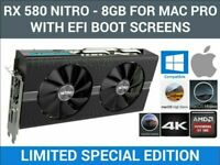 AMD APPLE Radeon RX 580 NITRO 8GB Mac Edition With Boot screen, for Mac Pro 002