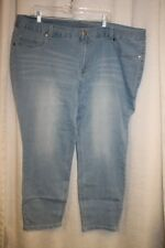 NEW WOMENS PLUS SIZE 26W BLEACHED BLUE  STRETCHY CURVY JEGGINGS  JEANS
