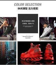 Design Patent Blade Running Shoes for Men Elastic Mesh Jogging Shoes Good...