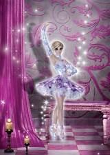 Performance Ballerina Birthday Card for women/girls elegant sparkly pink/purple
