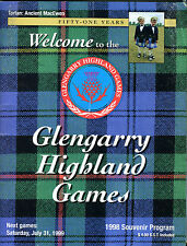 Glengarry Highland Games 1998 Souvenir Program EX 041116jhe