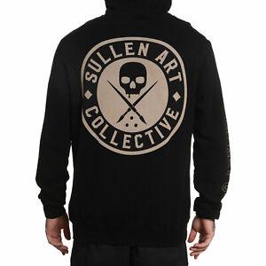 Sullen Men's BOH Long Sleeve Pullover Hoodie Jet Black Clothing Apparel Skate