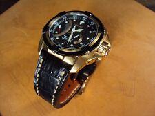 SEIKO VELATURA SRH006P1 crocodile watch strap Taiwan Cheergiant hand made straps