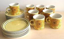 Sunny Yellow Irish Tea Set - 24 items by Brendan Erin Stone, Arklow, Ireland