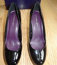 Madden Girl Cleary Black Women F Leather Pump High Heel Platform Dres Shoe 6 $55