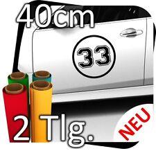 2x 50cm Nummer frei wählbar Startnummer Rallye Autoaufkleber Startnummern No.17