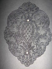 Black Beaded Pearl Embroidered  Applique Sewing/Costume/Crafts/Victorian/Bridal
