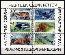 6376 BULGARIA 1991 Marine Mammals Sheet MNH