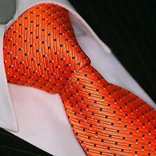Krawatte Krawatten Schlips Binder de Luxe Tie cravate 112 orange
