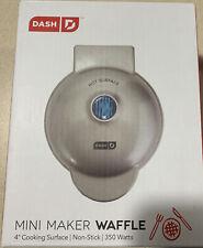 Dash Mini Waffle Maker 4� - Silver/Gray